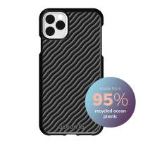 Ocean75 Eco-Friendly Compatible with iPhone 2019 XS Max Case, Ocean-Inspired Sustainable Phone Cover Made from Recycled Fishing Nets – Deep Black