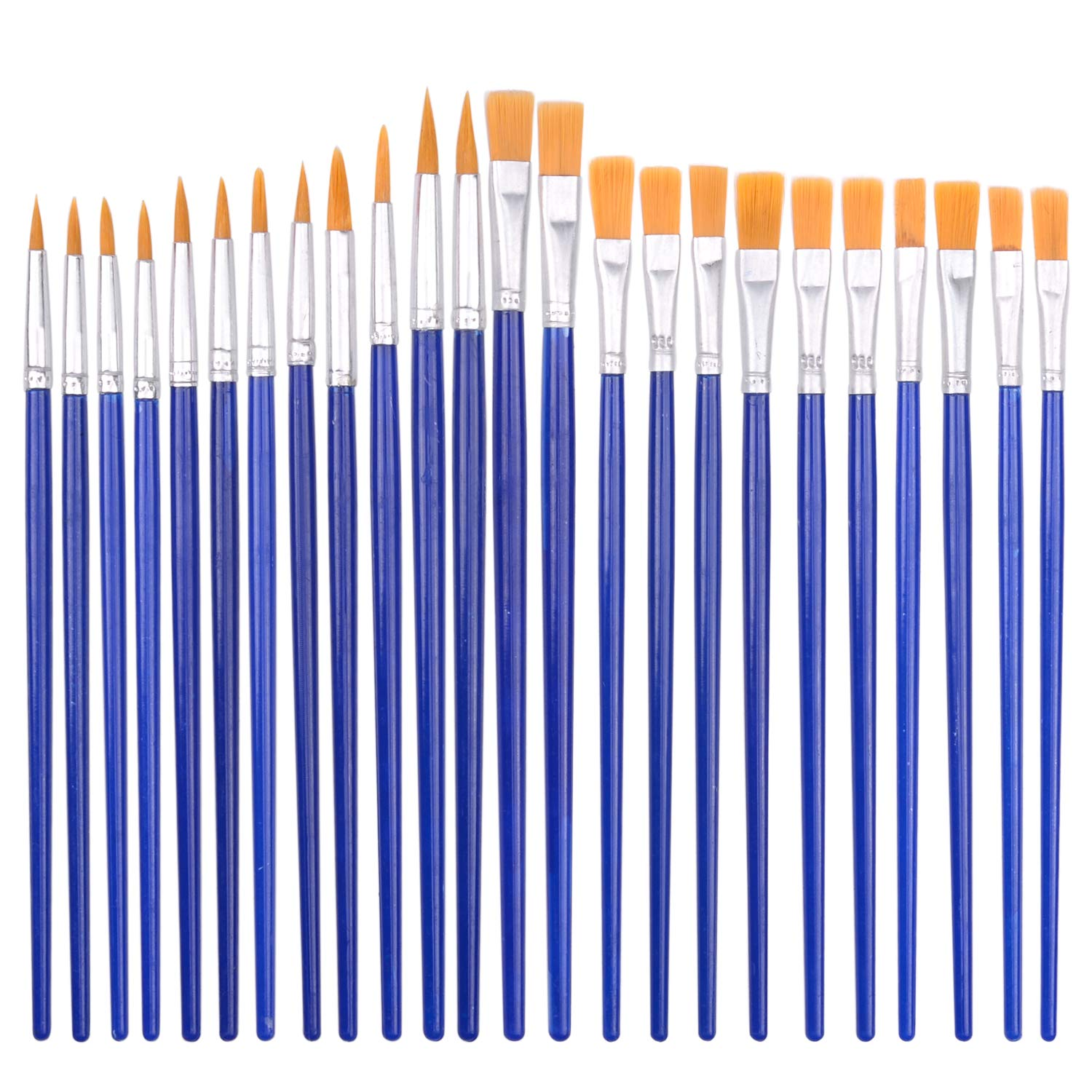 24 pcs Paint Brushes for Kids Painting