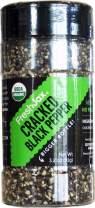FreshJax Premium Organic Spices, Herbs, Seasonings, and Salts (Certified Organic Cracked Black Pepper - Large Bottle)