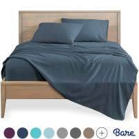 Bare Home Twin XL Sheet Set - College Dorm Size - Premium 1800 Ultra-Soft Microfiber Sheets Twin Extra Long - Double Brushed - Hypoallergenic - Wrinkle Resistant (Twin XL, Blue Sea)