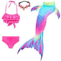 Kokowaii Fancy Girls Swimming Mermaid Kids Mermaid Tails for Swimming Girls Swimwear