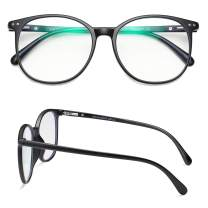 Yasee Big Round Eyewear Frames, Blue Light Blocking Glasses for Men and Women, Scented & Lightweight IR, UV Ray, Bluelight Screen Filter Glasses - Gaming, Reading, Computer Screen Glasses.