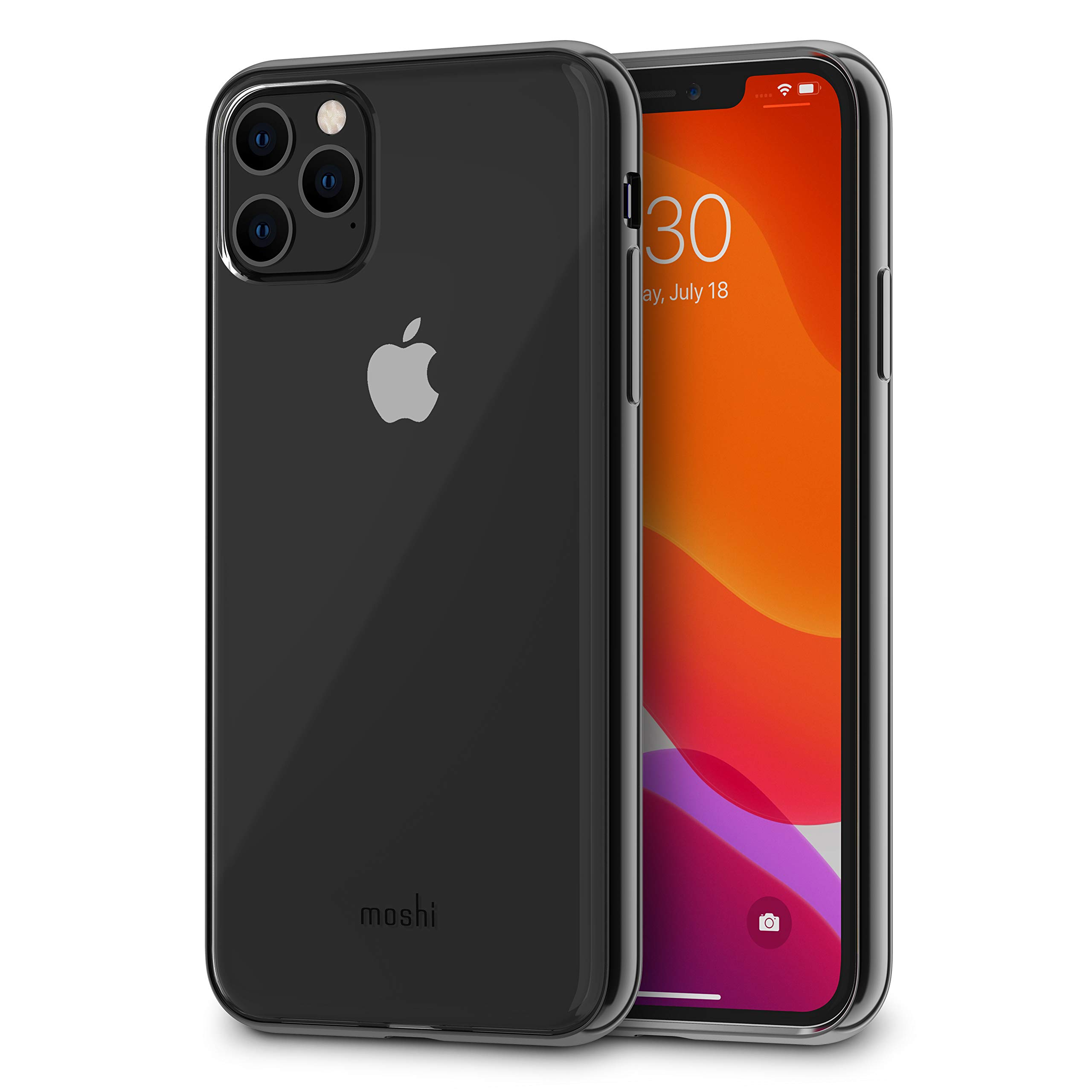 Moshi Vitros for iPhone 11 Pro Max Case 6.5-inch, Military Drop Protection, Flexible TPU, Slim Thin Phone Cover for iPhone 11 Pro Max, Raven Black Frame