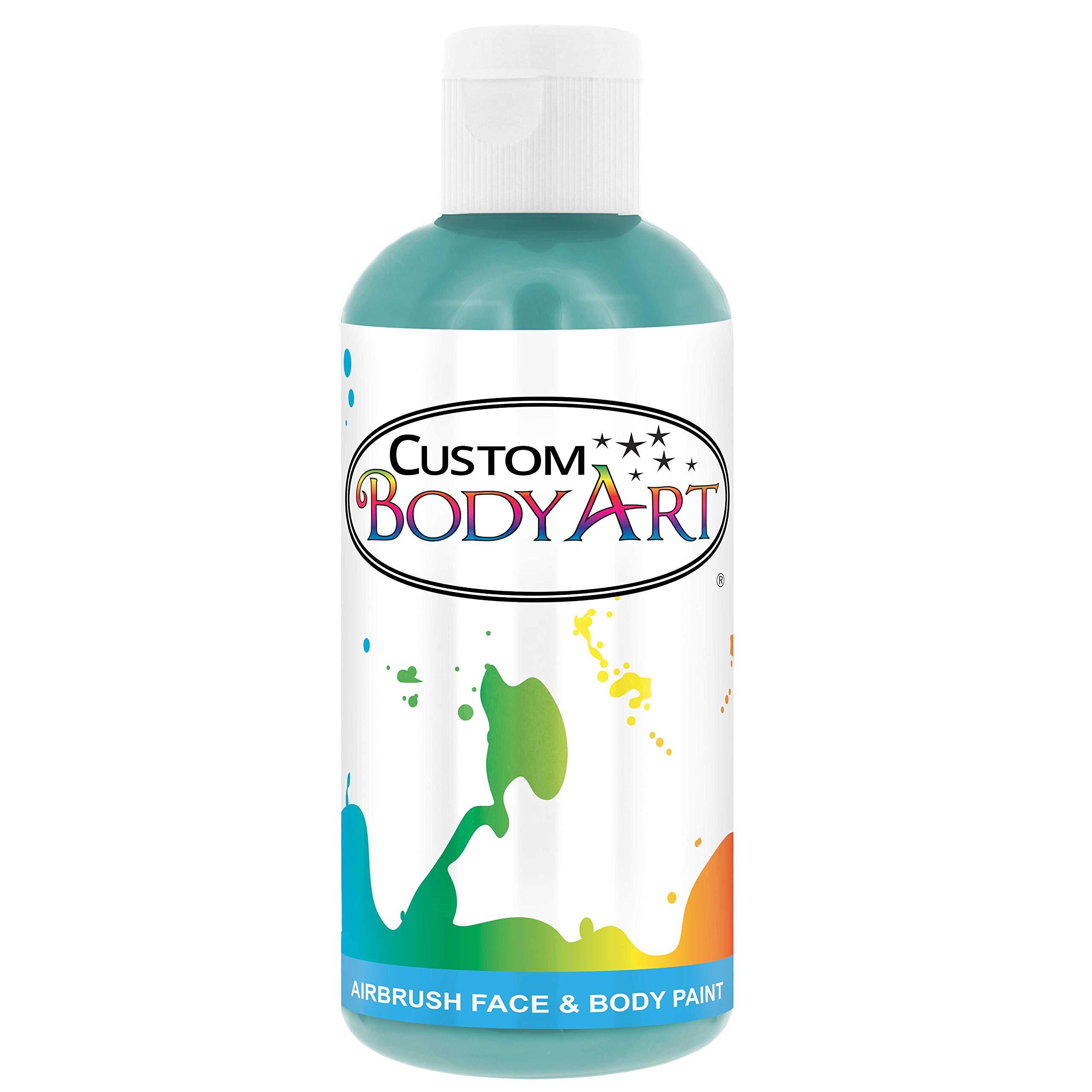 Custom Body Art 8-oz Aqua Blue Water Based Airbrush Body Art & Face Paint