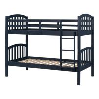 South Shore Aviron Solid Wood Bunk Beds, Navy Blue,