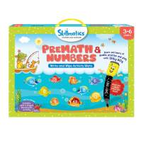 Skillmatics Educational Game: PreMath and Numbers (3-6 Years) | Erasable and Reusable Activity Mats with 2 Dry Erase Markers | Learning Tools for Boys and Girls 3, 4, 5, 6 Years