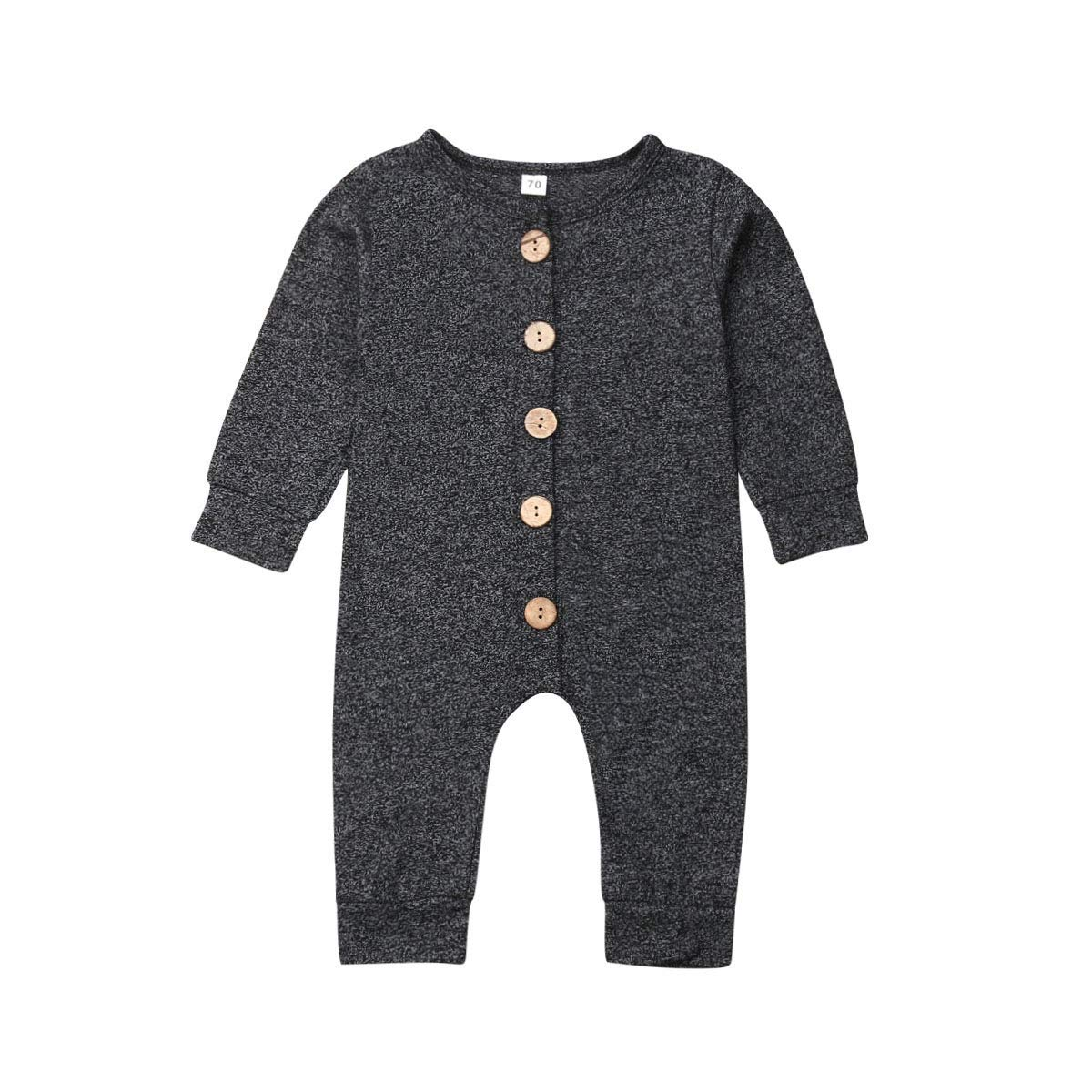 Honganda Infant Baby Boy Girl Romper Jumpsuit with Buttons Playsuit Outfit Spring Summer Clothes