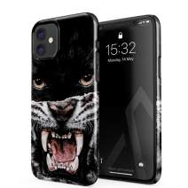 BURGA Phone Case Compatible with iPhone 11 - Lethal Hunter Savage Wild Panther Vs Tiger Cute Case for Women Thin Design Durable Hard Plastic Protective Case