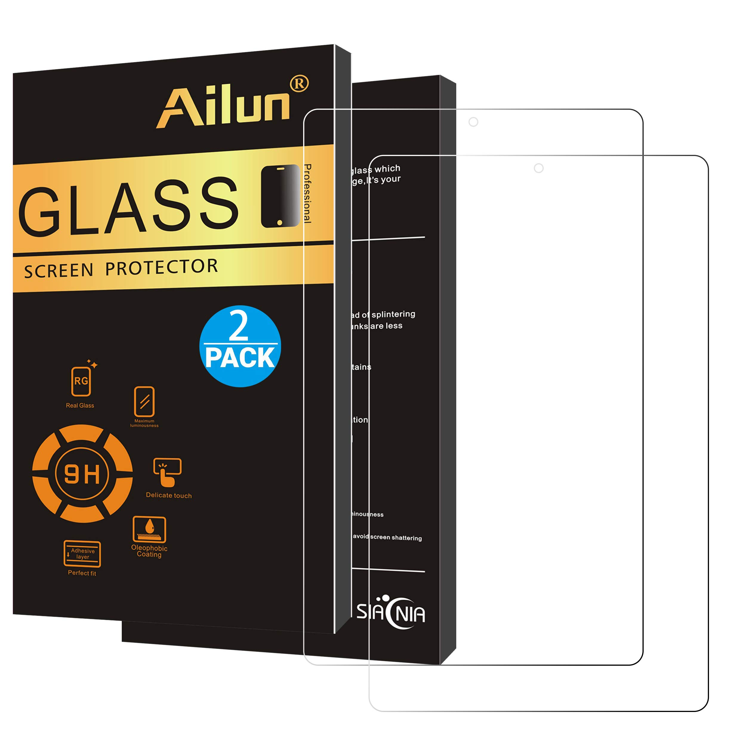 Ailun Screen Protector Compatible with Fire HD 10 Fire HD 10 Kids Edition 2Pack 2.5D Edge Tempered Glass 9H Hardness Ultra Clear Anti Scratch Case Friendly