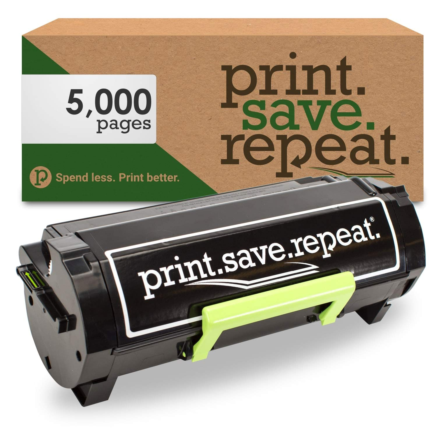 Print.Save.Repeat. Lexmark 500HG High Yield Remanufactured Toner Cartridge for MS310, MS312, MS315, MS410, MS415, MS510, MS610 [5,000 Pages]