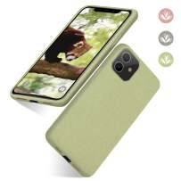 """abitku iPhone 11 Phone Case, Eco-Friendly Biodegradable Ultra Slim Fit Straw Phone Cases Soft Protective Back Cover for iPhone 11 6.1"""" 2019-Light Green"""