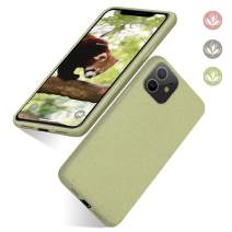 "abitku iPhone 11 Phone Case, Eco-Friendly Biodegradable Ultra Slim Fit Straw Phone Cases Soft Protective Back Cover for iPhone 11 6.1"" 2019-Light Green"