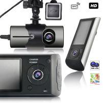"Indigi Dash Cam 2.7"" TFT LCD HD Dual Camera Car DVR Black Box w/GPS Tracker + G-Sensor"