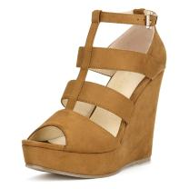 Allegra K Women's Gladiator Wedges Wedge Heel Sandals