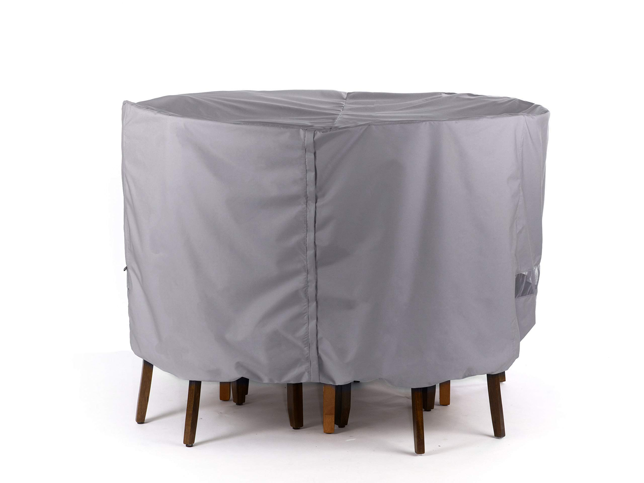 Covermates Round Dining Table/Chair Set Cover 132DIAMETER x 30H Elite Polyester - Charcoal
