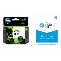 HP 65XL Ink   1 Black Ink Cartridge   Plus $5 Instant Ink Prepaid Code