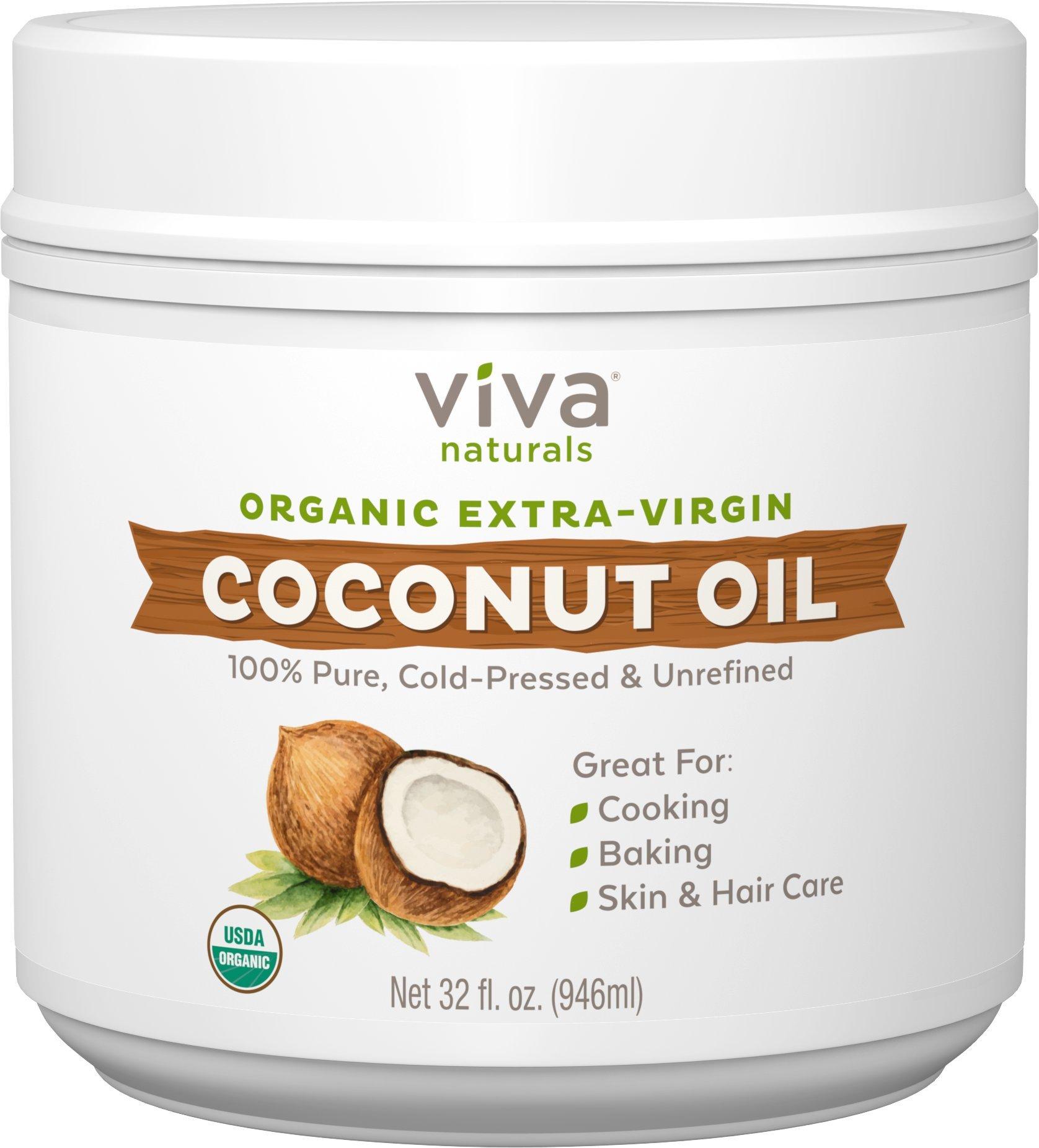 Viva Naturals Organic Extra Virgin Coconut Oil, 32 Ounce