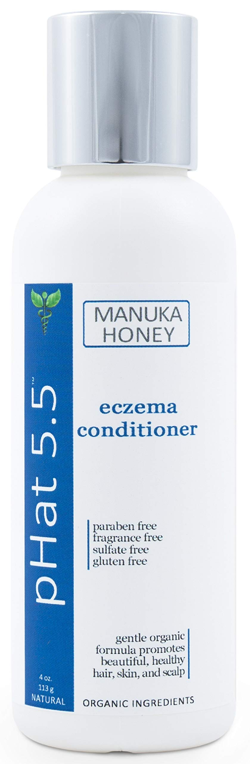 Organic Deep Conditioner Treatment for Eczema Relief - With Manuka Honey and Aloe Vera - Dry and Itchy Scalp & Dandruff Treatment - Sulfate and Paraben Free - Safe for Color Treated Hair (4 oz)