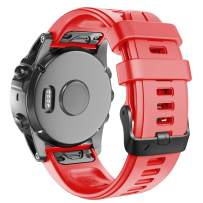 ANCOOL Compatible with Fenix 5S Plus Bands 20mm Width Easy Fit Soft Silicone Watch Bands Replacement for Fenix 6S/Fenix 6S Pro/Fenix 5S Smartwatches, Red