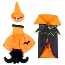 DII FBA43912 Bottle Covers for Halloween Décor, Wine Lover, or Party, Orange Bat