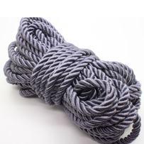 U Pick 10yds 5mm Decorative Twisted Satin Polyester Twine Cord Rope String Thread Shiny Cord Choker Thread (10:Gray)