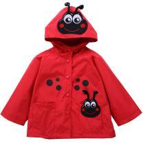Waterproof Rainwear Windbreaker Hooded Raincoat Dirty Proof Cute Long Sleeve Outwear Jacket for Boys and Girls