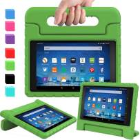 AVAWO Shock Proof Case for Fire HD 8 2017/2018 Tablet with Alexa - Kids Shockproof Convertible Handle Light Weight Protective Stand Case for Fire HD 8 inch (7th/8th Generation 2017/2018 Release),Green