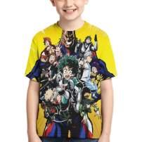 SHOEWPQIA Boys' My Hero Academia 3D T-Shirt Cosplay Costume Tees