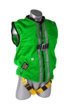 Guardian Fall Protection 02220 Green Mesh Construction Tux Harness, Large