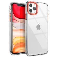 YOUMAKER Compatible with iPhone 11 Pro Max Case, Clear iPhone 11 Pro Max Cover Shock Absorption Phone Cases 6.5 inch - Red