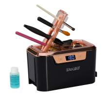 iSonic DS310C Miniaturized Commercial Ultrasonic Cleaner With Makeup Brush Holder For Cosmetic Tools, Air Brushes, Jewelry, Eyeglasses, 110V 55W