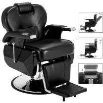Paddie Barber Chairs Heavy Duty, Hydraulic Reclining All Purpose Styling Chair Salon Chair for Hair Stylist Beauty Salon Barber Equipment, Black
