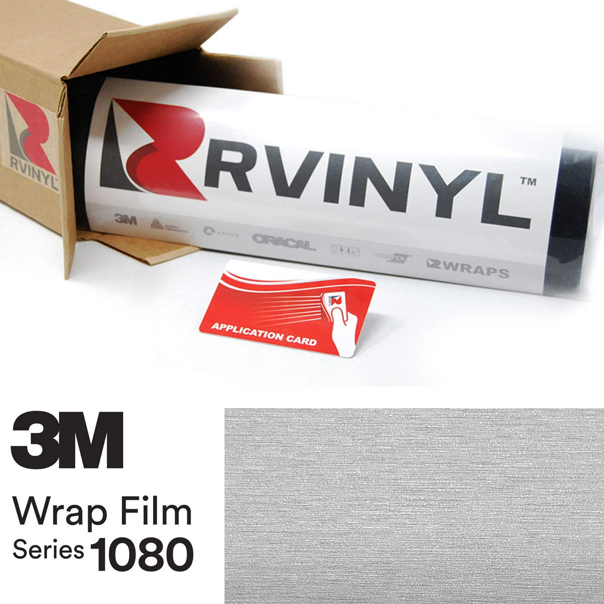 3M 1080 BR120 Brushed Aluminum 5ft x 23ft W/Application Card Vinyl Vehicle Car Wrap Film Sheet Roll
