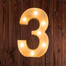 LED Marquee Number Lights Sign Light Up Marquee Letter Lights Sign for Night Light Wedding Birthday Party Battery Powered Christmas Lamp Home Bar Decoration 3