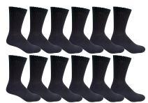 12 Pairs Value Pack of Wholesale Sock Deals Mens Crew Socks, 10-13