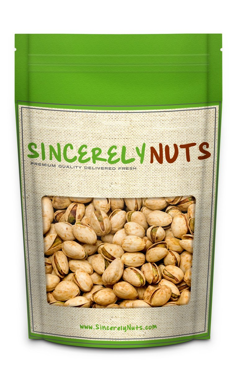 Sincerely Nuts Garlic & Onion Pistachios in Shell - Five Lb. Bag   Healthy Snack Food   Great for Cooking   Source of Fiber, Protein, Vitamins & Minerals   Irresistible Gourmet Flavor   Vegan, Kosher