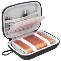 BOVKE EVA Shockproof Travel Carrying Storage Case Bag for Jackery Giant+ 12000 mAh 10200mAh, RAVPower 16750mAh 13000mAh, Anker PowerCore 10401 Portable Charger Power Bank External Battery,Black