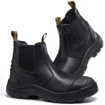 WORKPOINT Men's Chelsea Steel Toe Waterproof Work Boots