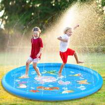 """Aitey Splash Pad for Toddlers, 68"""" Kids Sprinkler for Outside Fun Water Play Mat Toys for Big Kids Babies Toddlers"""