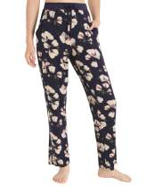 Esenchel Women's Floral Printed Lounge Pants with Pockets
