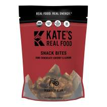 Kate's Real Food Granola Bites 2 Pack | Handle Bar Dark Chocolate Cherry & Almond | Clean Energy, Organic Ingredients, Gluten Free, Non GMO | All Natural Delicious Health Snack
