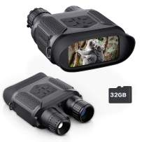 """BNISE Digital Night Vision Binoculars for Completely Darkness Take Images & Videos, 7x31MM Infrared Spy Gear for Hunting & Surveillance - 4"""" Large Screen & 1300ft Viewing Range"""