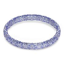 Amorucci Sterling Silver Bangle. Rhodium Plated outside with electroplating on the inside. Internal diameter 2.6''. Spoil yourself or buy someone special a unique gift.
