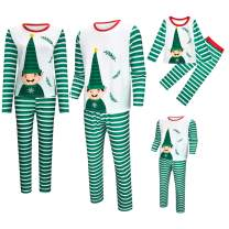 Matching Family Christmas Pajamas Set, Long Sleeve Tee and Pants Loungewear Holiday Group Sleepwear Gilrs,Boys,Women,Men Pjs