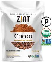 Zint Organic Cacao Powder (8 oz): Paleo-Certified, Organic, Non GMO, Anti Aging Antioxidant Superfood, Gluten Free Cocoa Cacao Beans, Pure Delicious Chocolate Essence