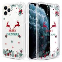 Caka Christmas Case for iPhone 11 Pro, iPhone 11 Pro Clear Case with Merry Christmas Pattern for Girls Women Girly Cute Slim Soft Premium TPU Protective Case for iPhone 11 Pro (Merry Christmas Words)
