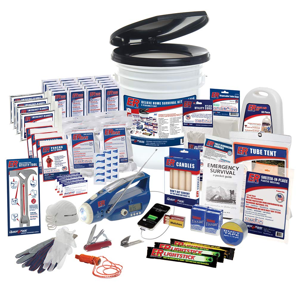 ER Emergency Ready 4 Person Ultimate Deluxe Survival Kit, SKH4DR