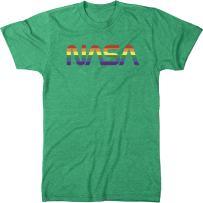 NASA Pride Worm Logo Men's Modern Fit Tri-Blend T-Shirt