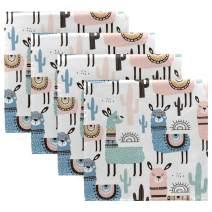"CaTaKu Llama Napkin Set of 4, Alpaca Cactus Napkins Table Dinner Napkin Washable Reusable Lunche for Cocktail Napkins for Party Home kitchen Decoratifor, 20"" x 20"""
