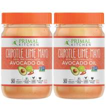 Primal Kitchen - Chipotle Lime Avocado Oil Mayo, Gluten and Dairy Free, Whole30 and Paleo Approved (12 oz)- Twin Pack